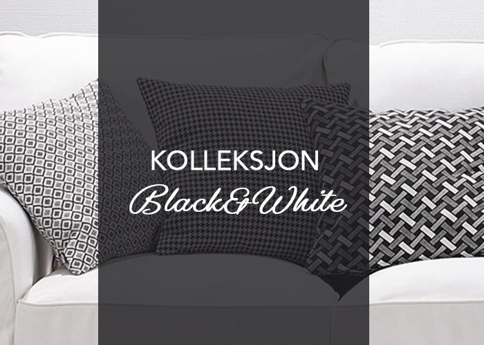 Jaquard vevd tekstiler i kolleksjonen Black&White